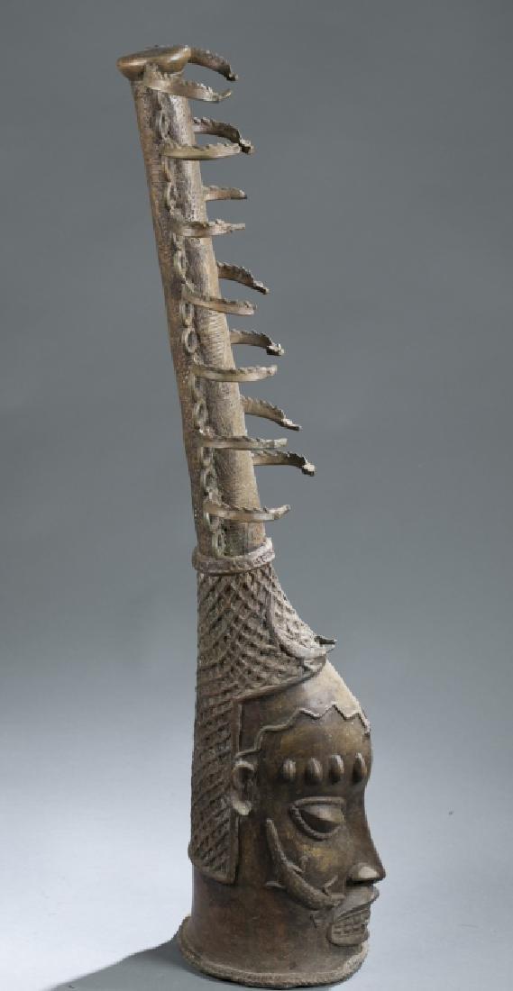 2 Nigerian Brass heads. c.20th century. - 6