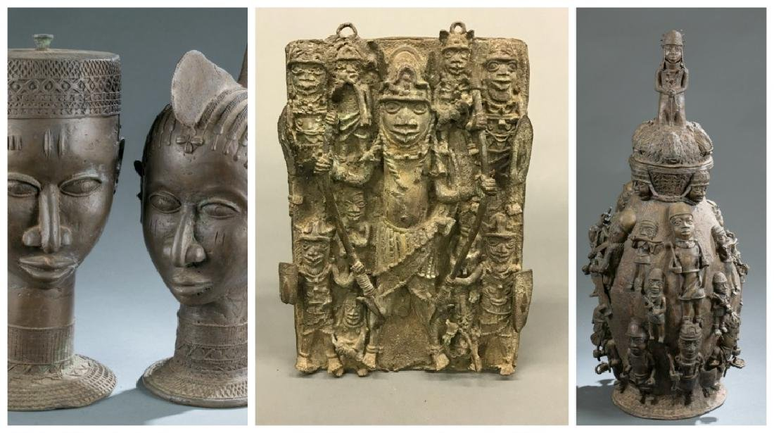 4 Nigerian Brass objects. c.20th century.