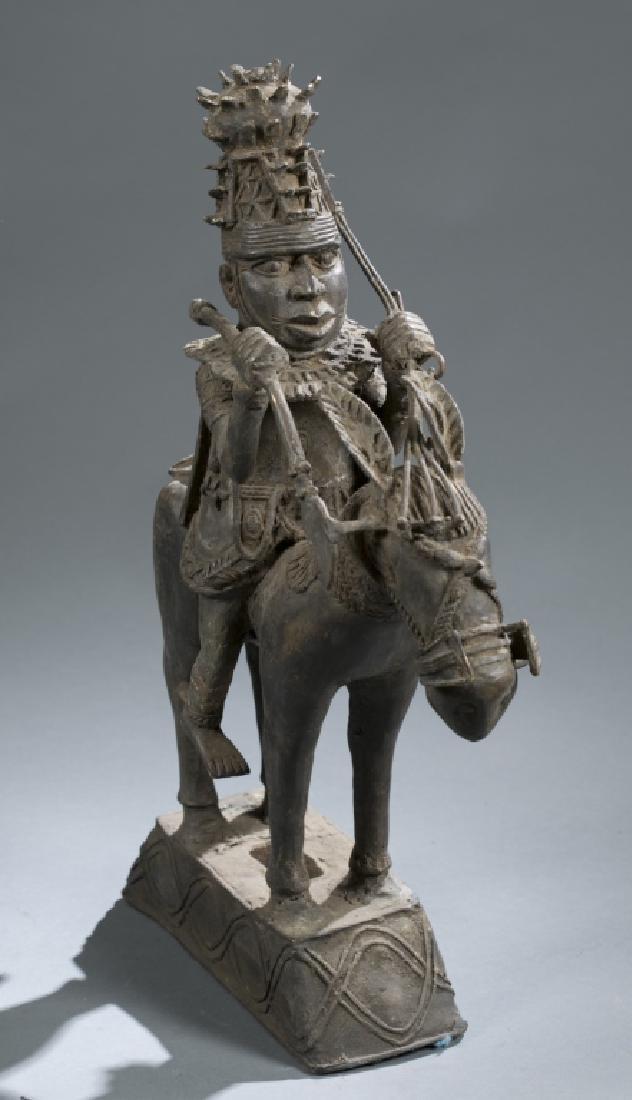 3 Nigerian Benin figures. c.20th century. - 10