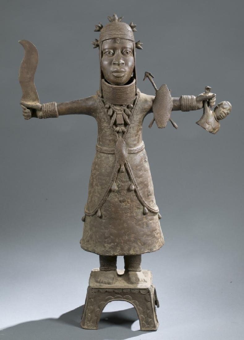 3 Nigerian Benin figures. c.20th century. - 2