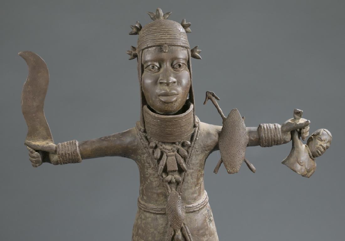 3 Nigerian Benin figures. c.20th century. - 3