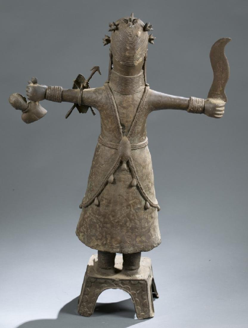 3 Nigerian Benin figures. c.20th century. - 4