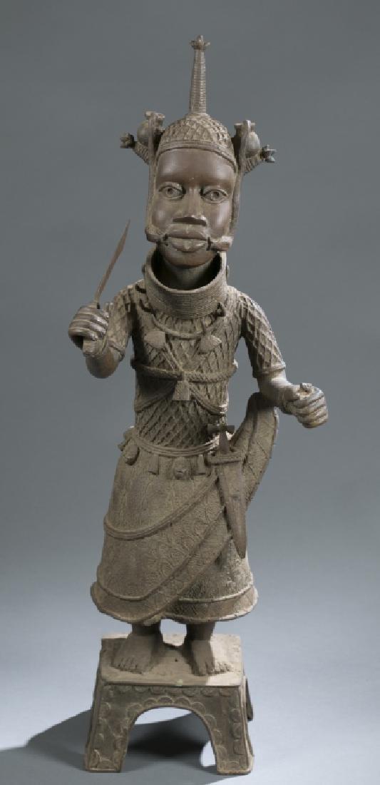 3 Nigerian Benin figures. c.20th century. - 5