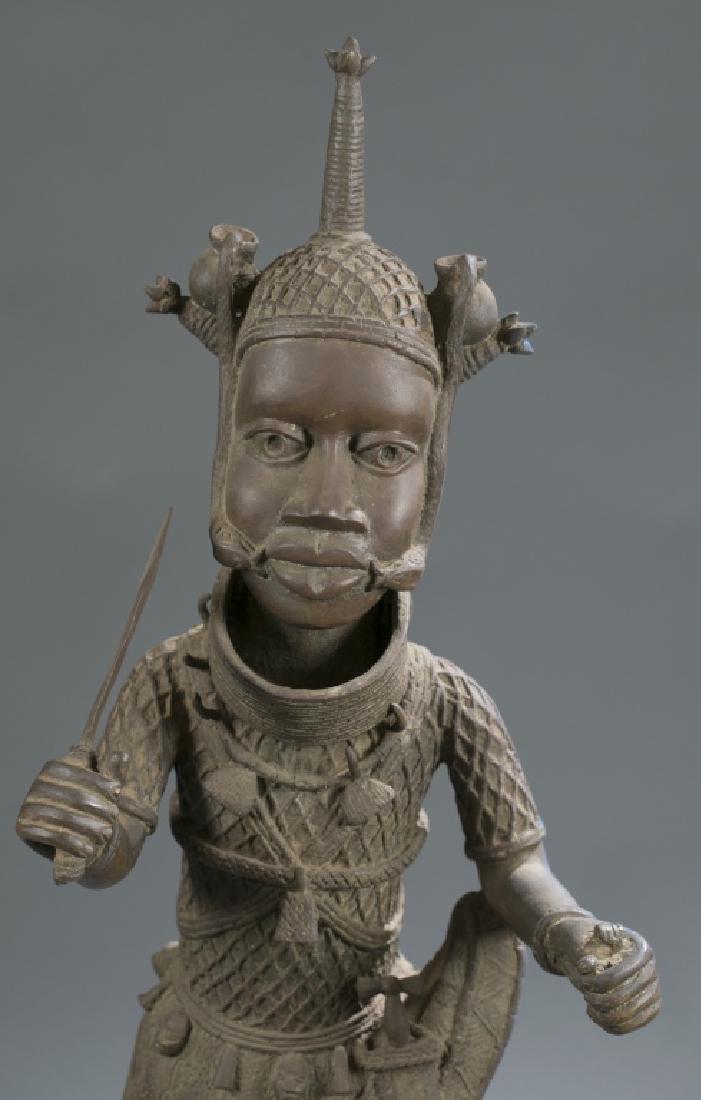 3 Nigerian Benin figures. c.20th century. - 6