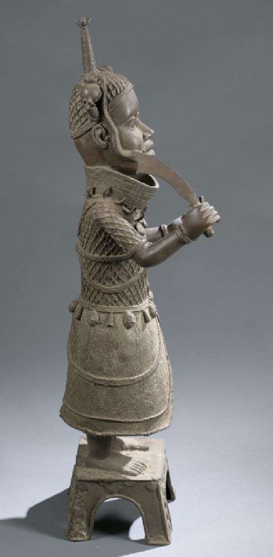 3 Nigerian Benin figures. c.20th century. - 7
