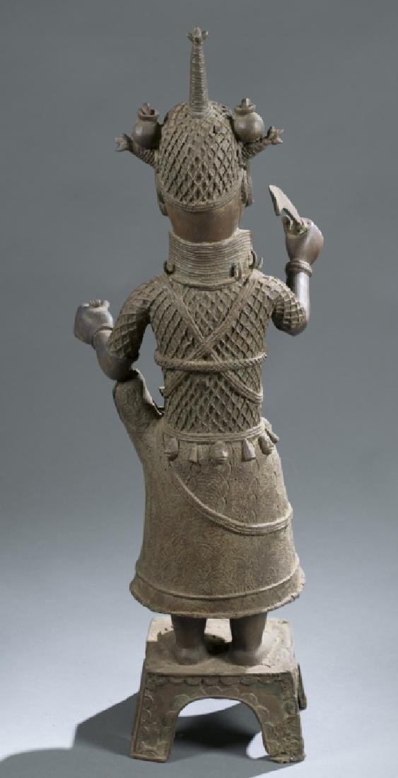 3 Nigerian Benin figures. c.20th century. - 8