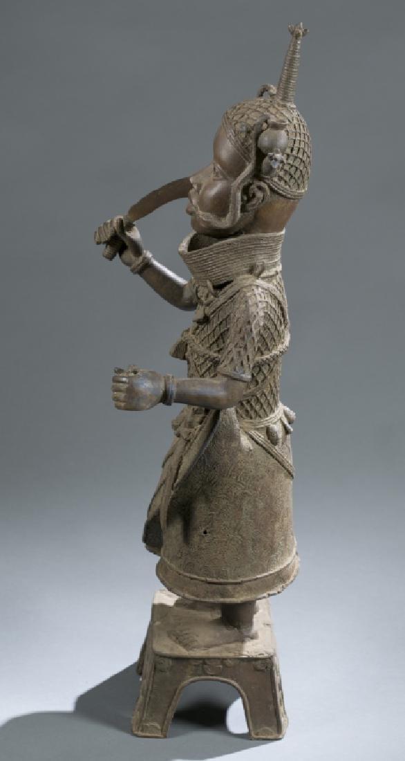 3 Nigerian Benin figures. c.20th century. - 9