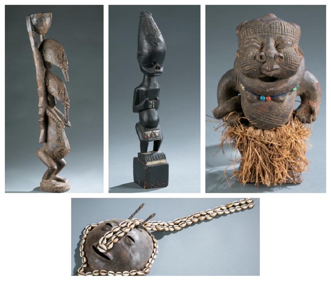 4 West Africa style figures. c.20th century.