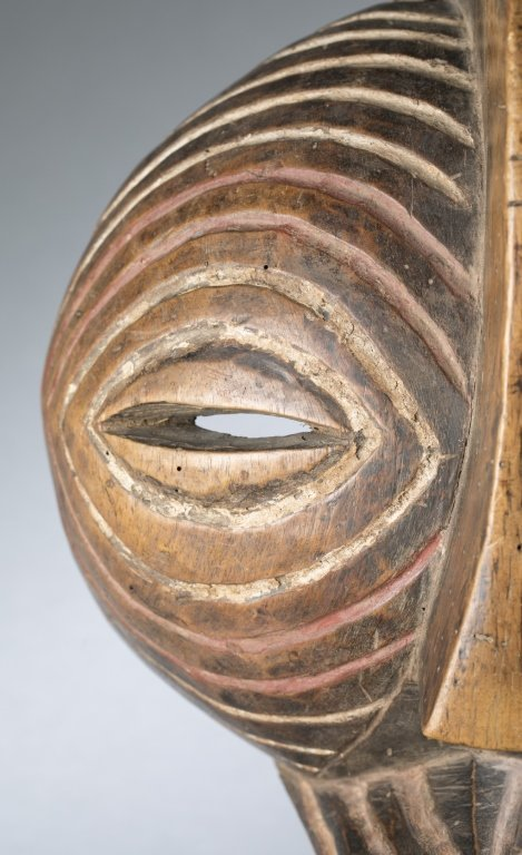 Songye style round mask. c.20th century. - 2
