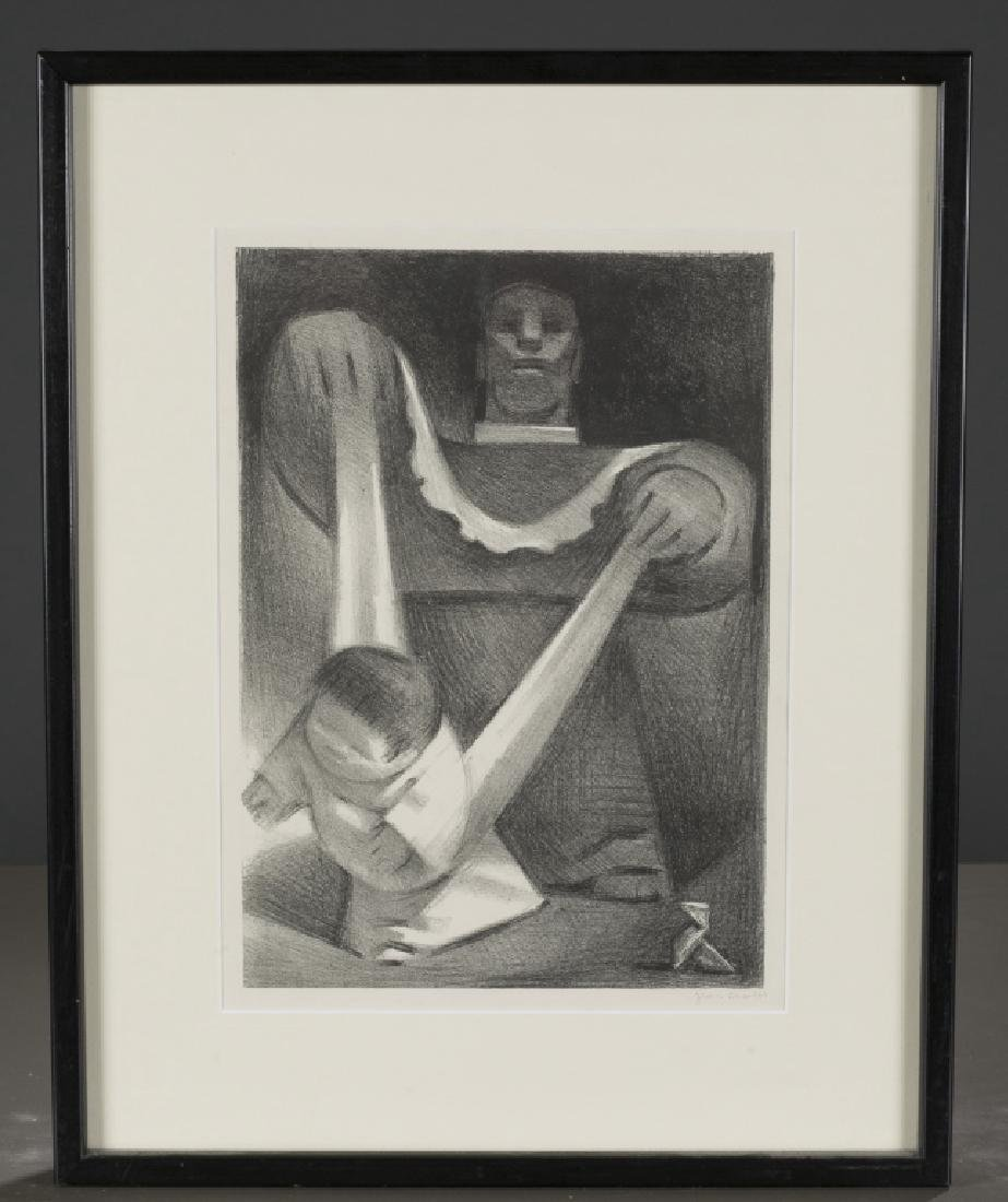 Jean Charlot 'First Steps' lithograph.