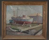 James P. Wharton, Fishing Boat, O/C.