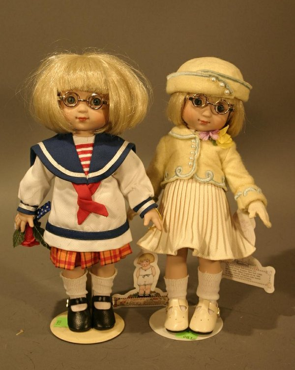 "615: Two Robert Tonner Mary Estelle Vinyl Dolls.  10.5"""