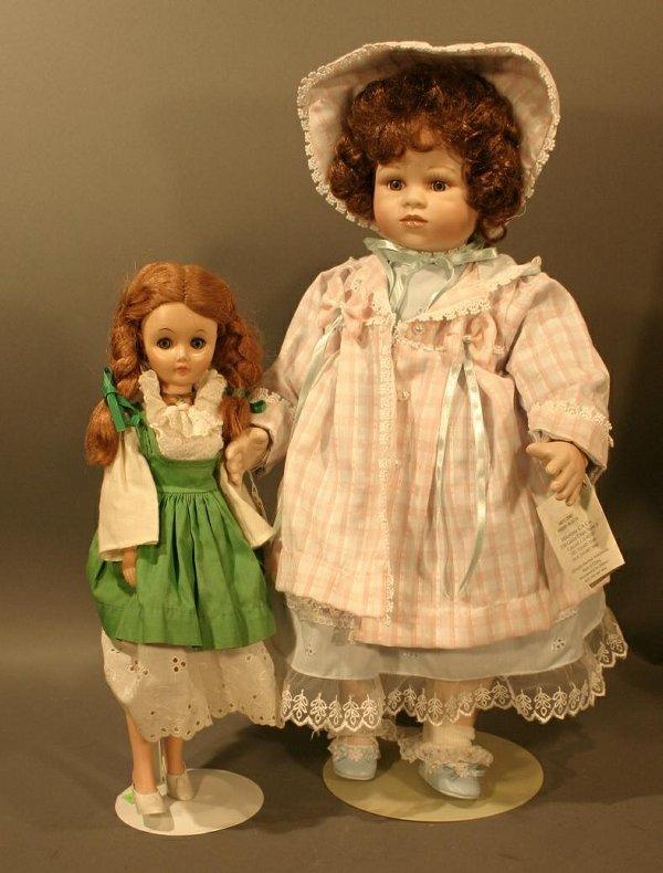 "617: Limited edition Milestone porcelain ""Alicia"" doll."