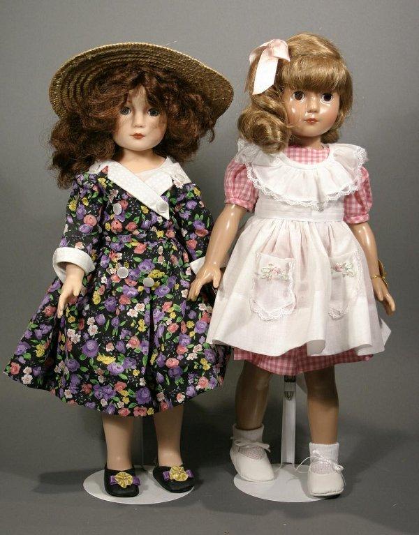 """623: Two Effanbee """"Ann-Shirley"""" American children dolls"""