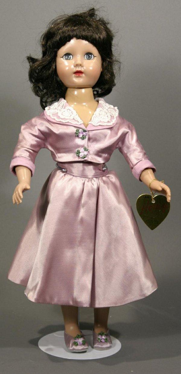 """624: Effanbee """"Honey"""" doll, sleep eyes, glued wig, hard"""