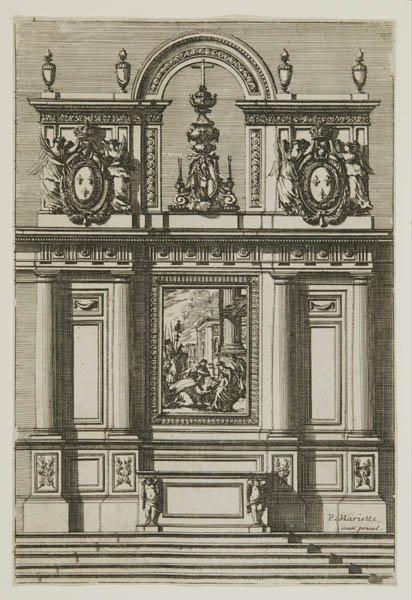 4: 13 etched plates: sculpture, etc. Paris, ca. 1775.