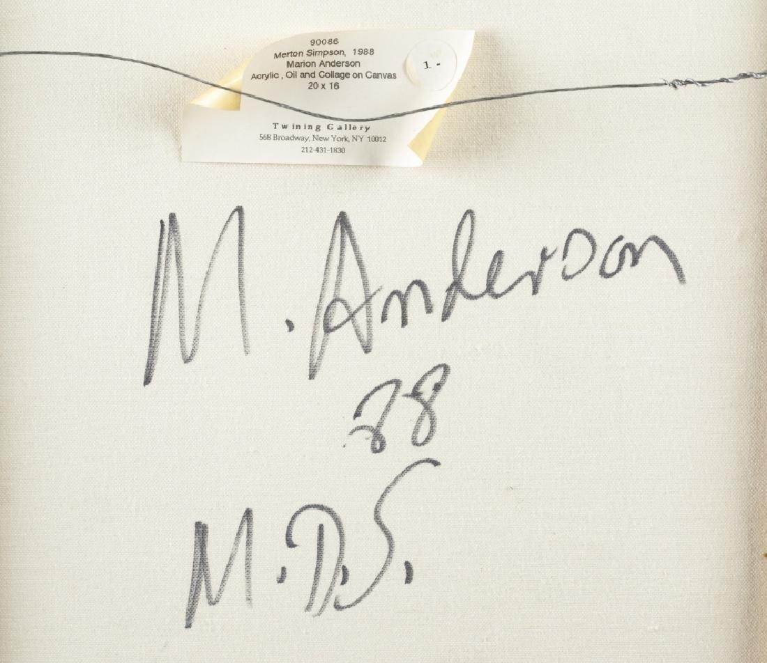 Portrait of Marian Anderson (Opera Singer). - 4