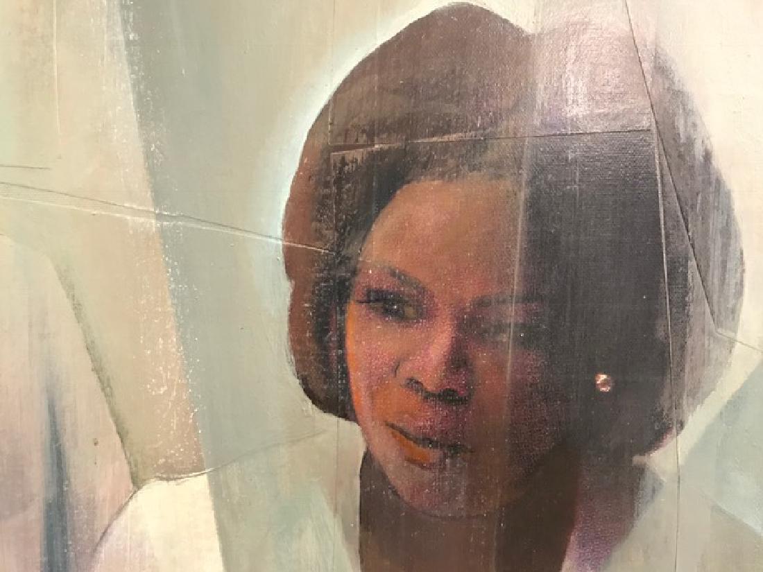 Portrait of Oprah Winfrey and Sidney Poitier. - 2