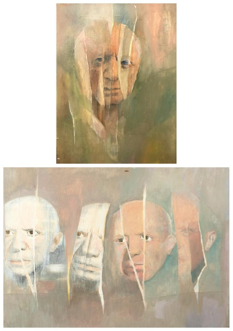 Two portraits of Pablo Picasso (Artist).