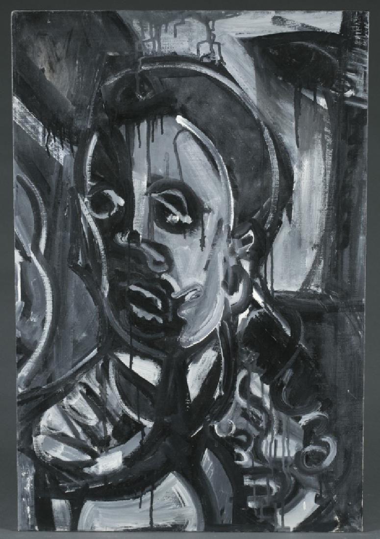 Abstract Portrait in Grey.
