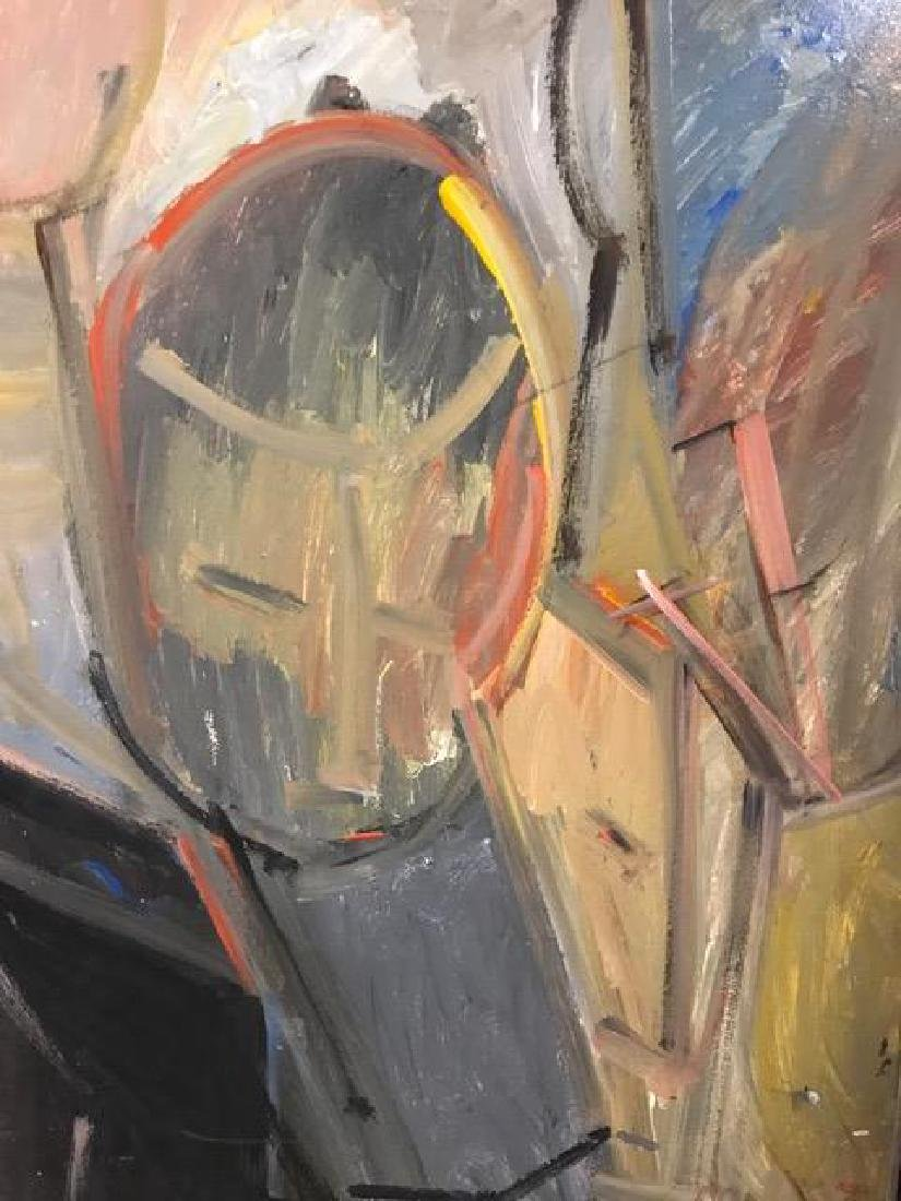 Two Abstract Figurative Paintings. - 2