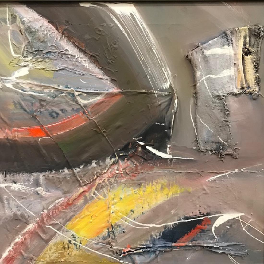 Three Abstract Mixed Media Paintings. - 4