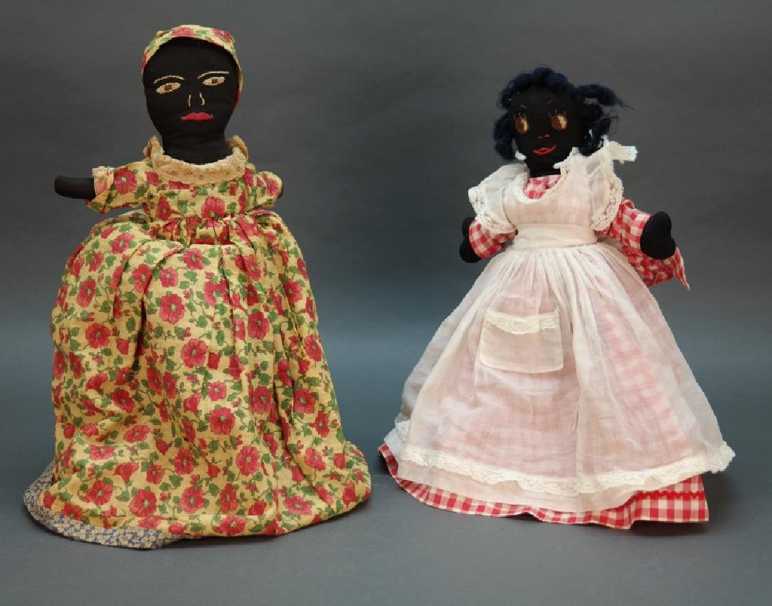 7 Black Americana dolls: Topsy turvy, walker, etc