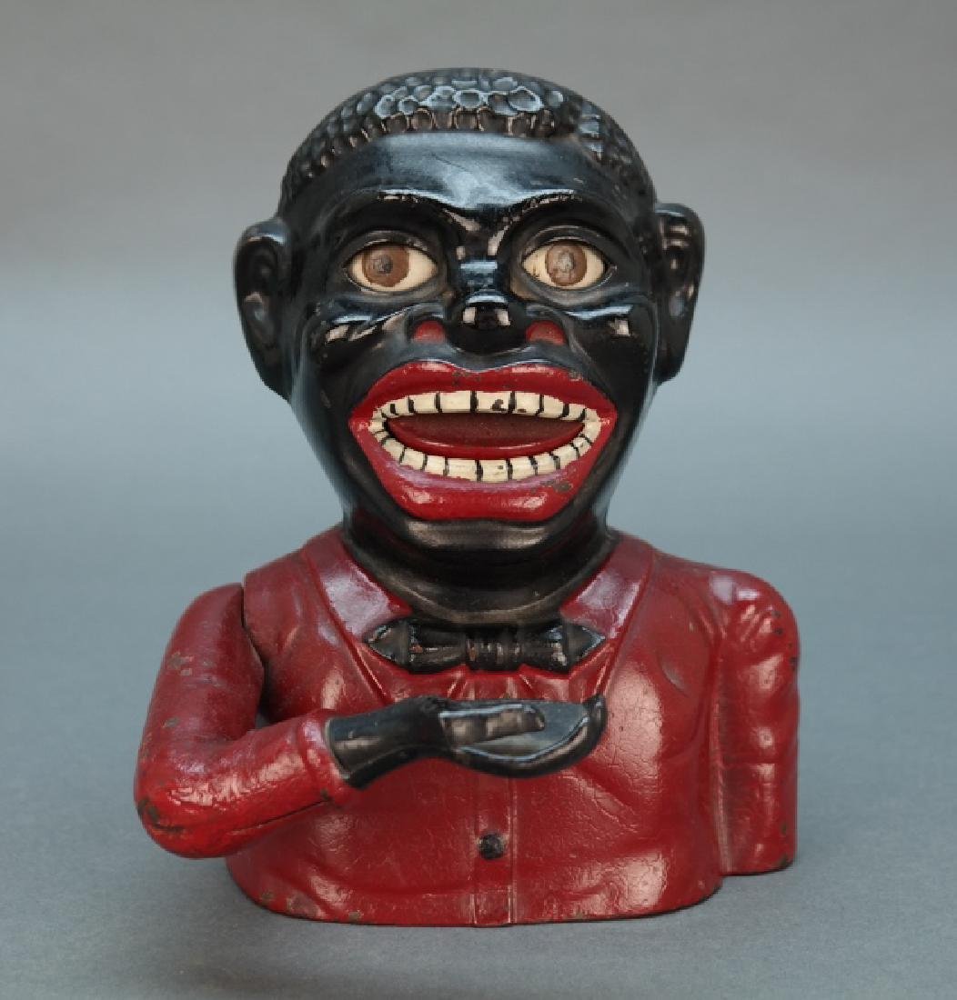 Jolly Nigger Mechanical Bank, pat. 1882.