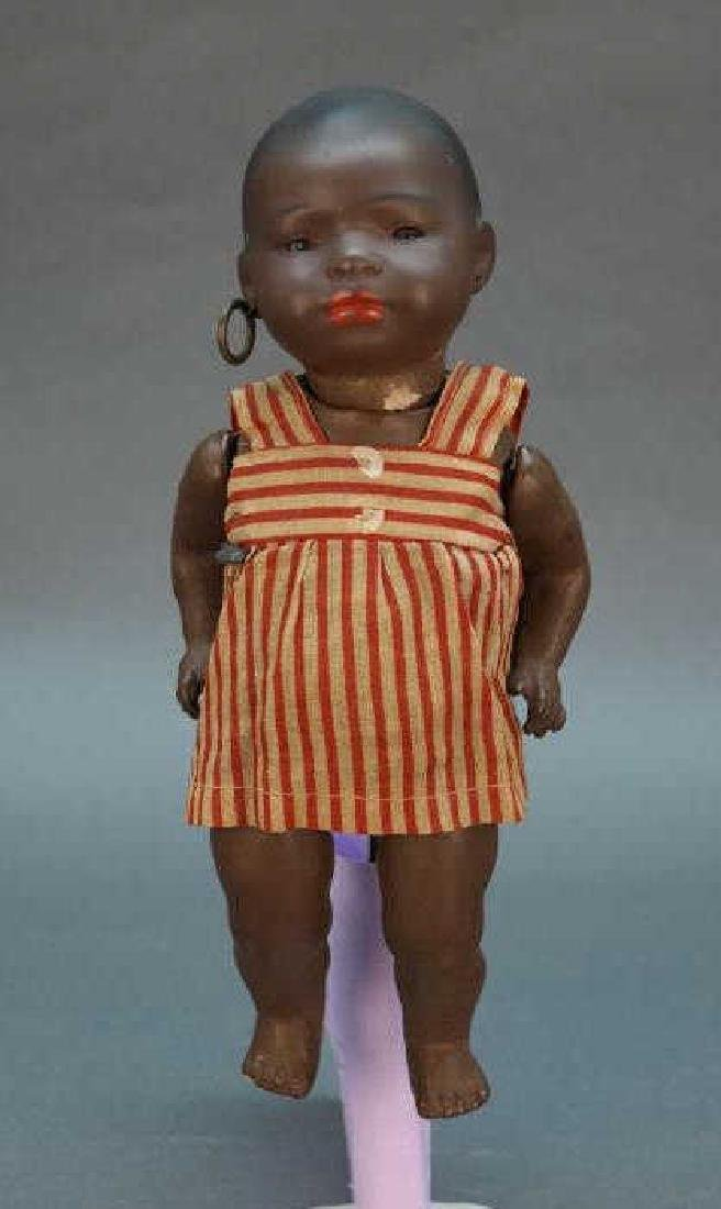 Heubach Koppelsdorf bisque black baby doll