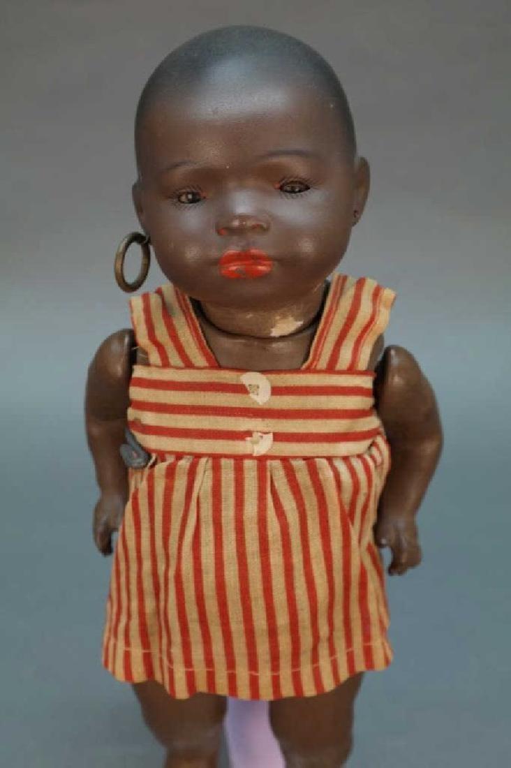 Heubach Koppelsdorf bisque black baby doll - 2
