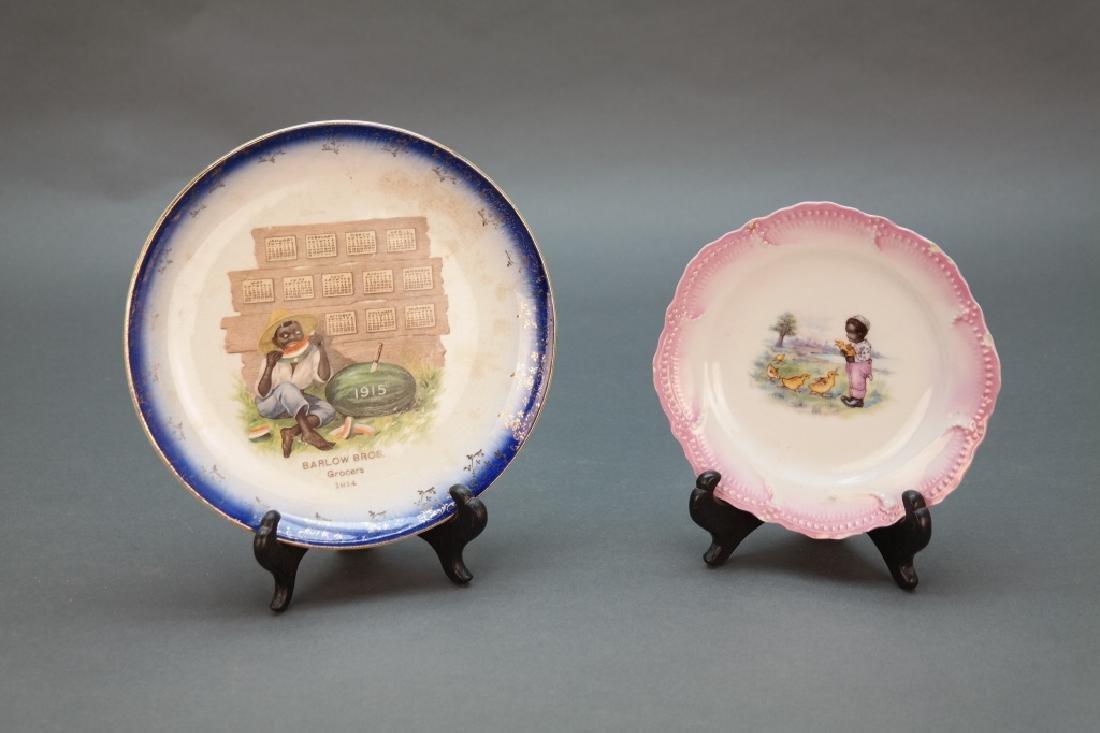 2 plates incl 1915 watermelon calendar plate.
