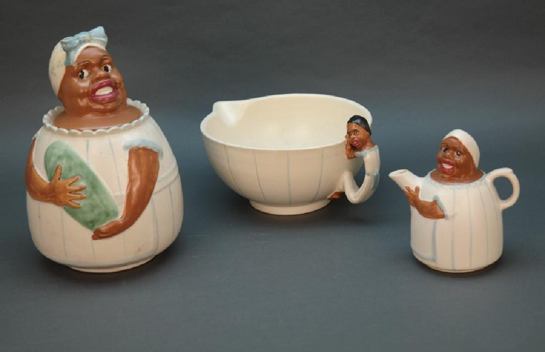 Group of 3 Weller 'Mammy Line' ceramics