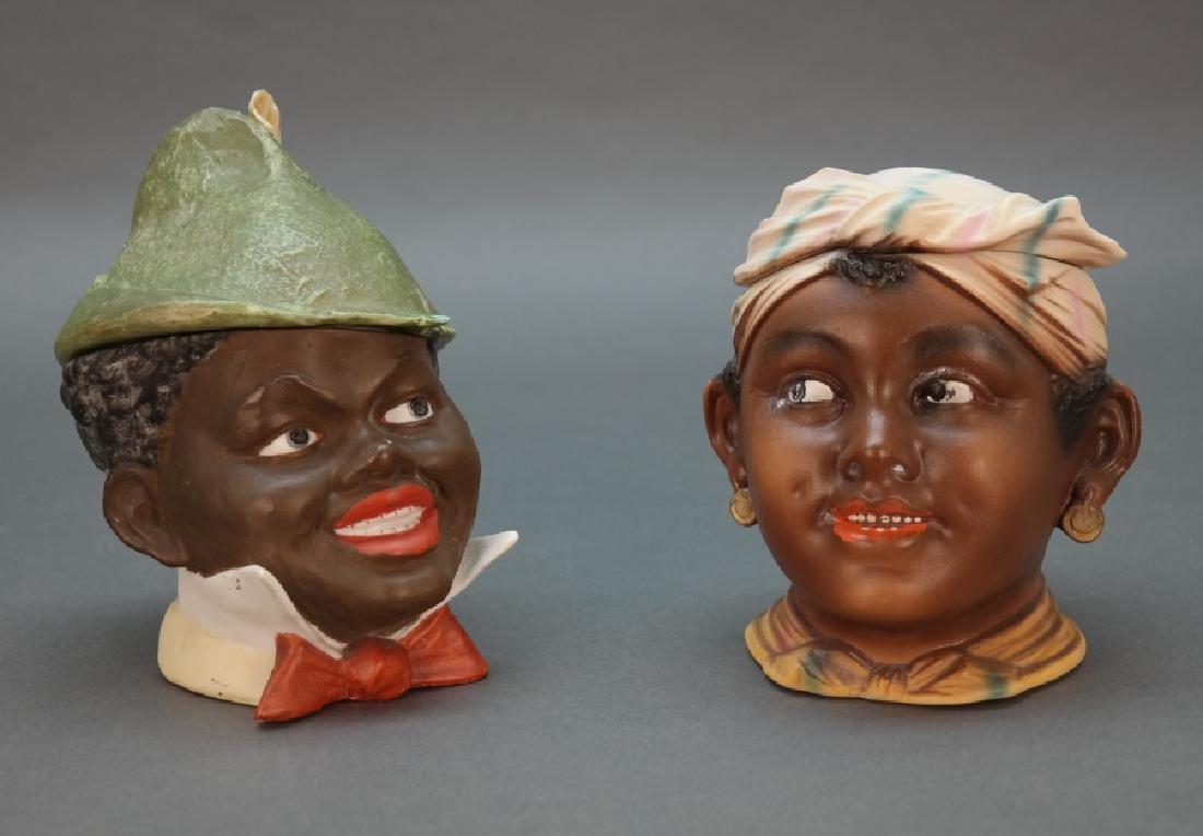 2 Black Americana tobacco humidors