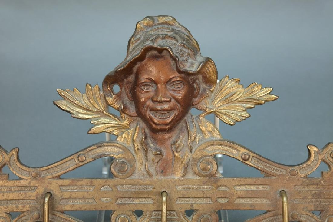 Black Americana Johnny Griffin Coat Rack. - 2