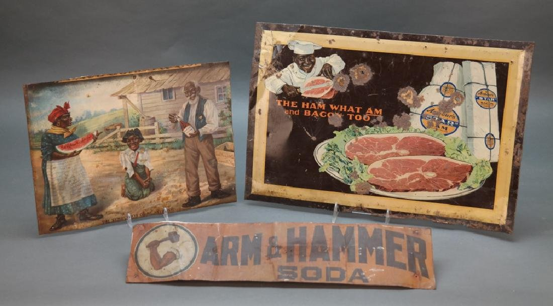 """3 metal signs incl: Armour's """"Star"""" Ham."""