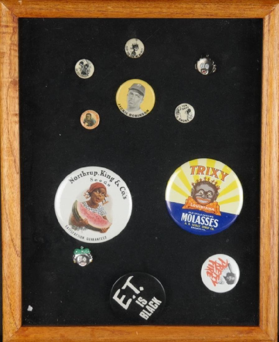 11 shirt buttons incl Jackie Robinson.