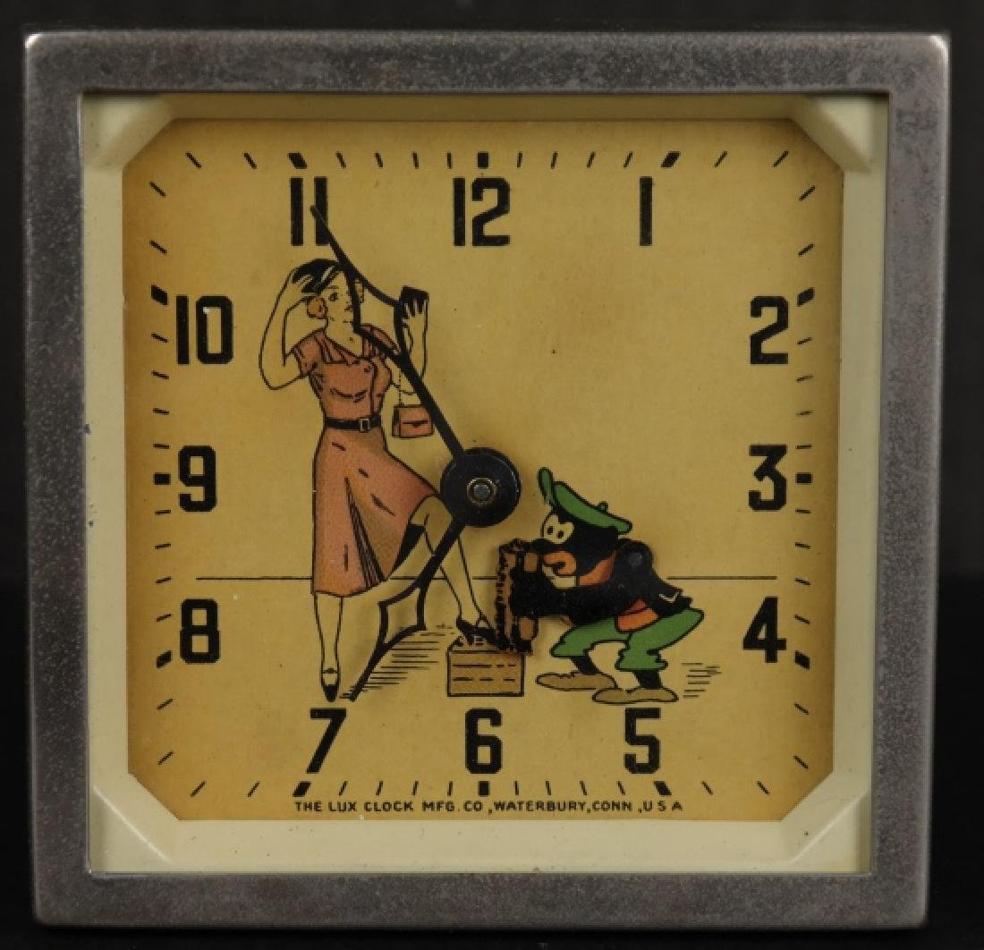 Clock with a moving shoeshine. - 2