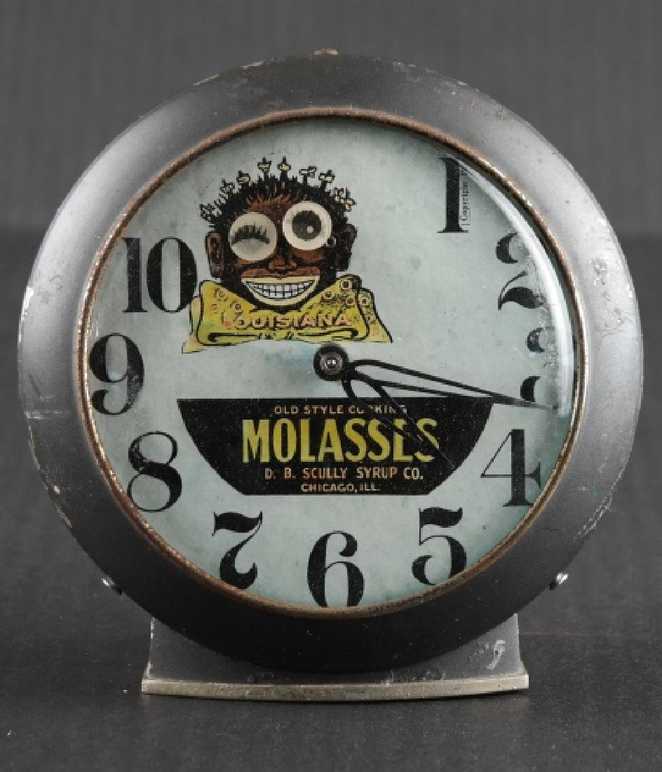 Old Style Cooking Molasses advertising clock