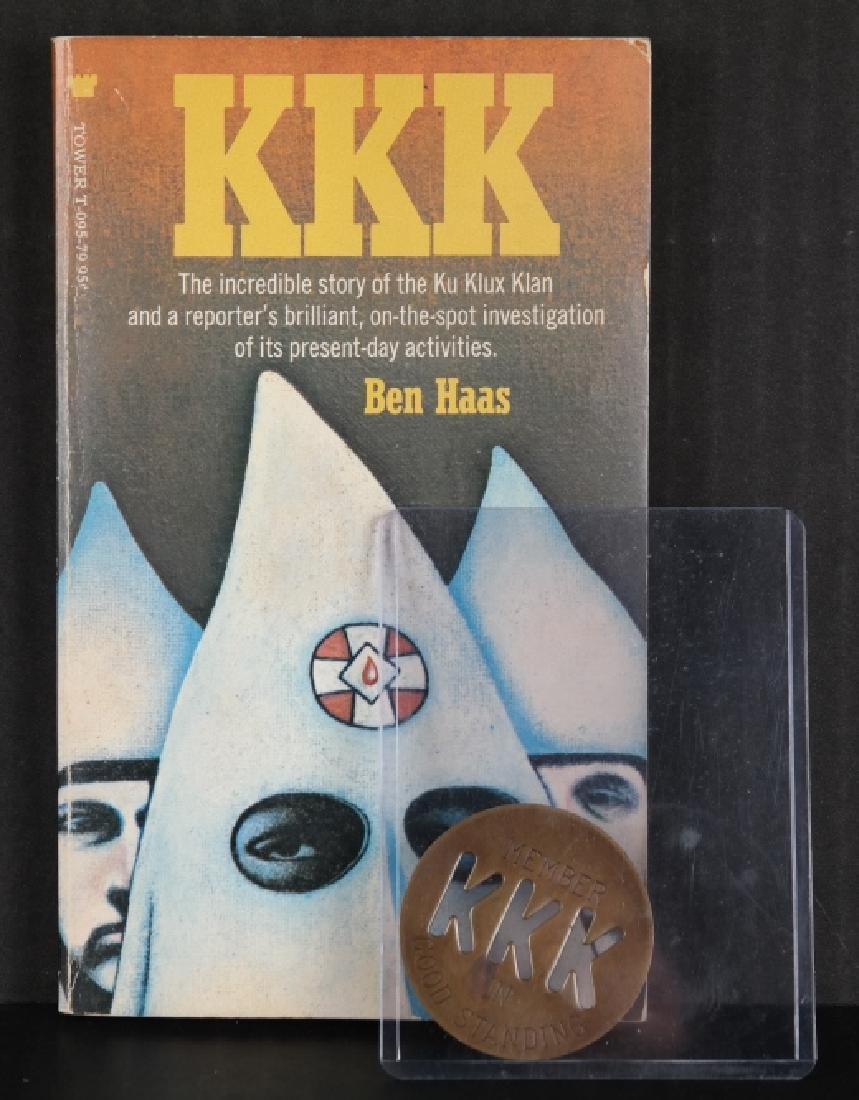 4 Items incl badge: KKK Member in Good Standing.