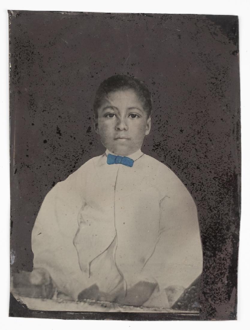 Tintype of a black child.