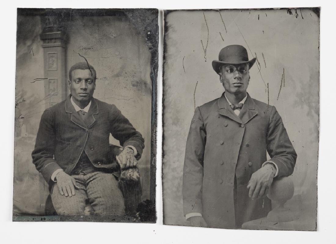 2 tintypes: Black men.