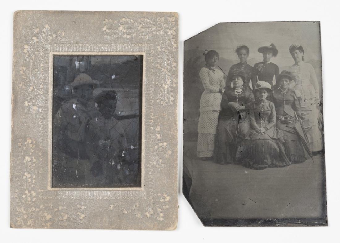 2 Black Americana tintypes: Group shot + two women