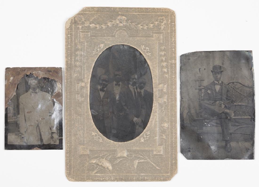 3 Black Americana tintypes.