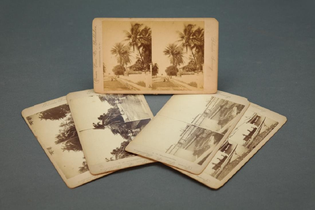 5 stereoviews: Key West, albumen.