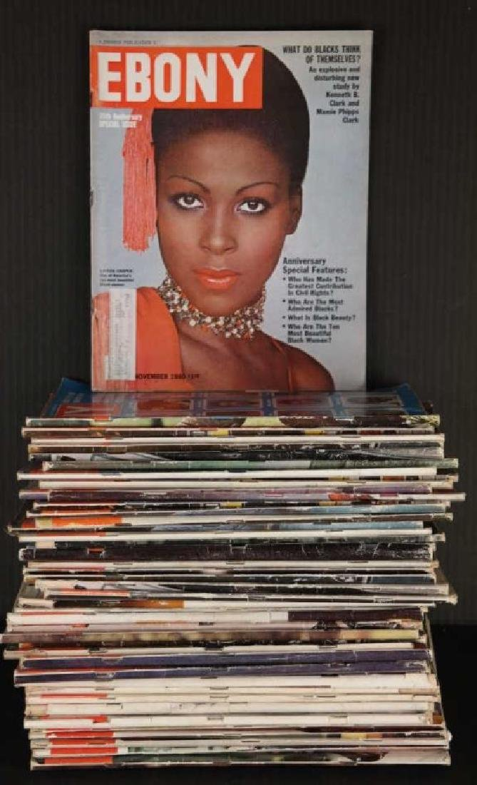 Ebony. 64 magazine issues, 1946-1982.