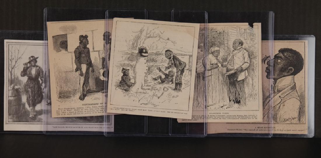 40 magazine cartoons, c. 1880s: Black Americana
