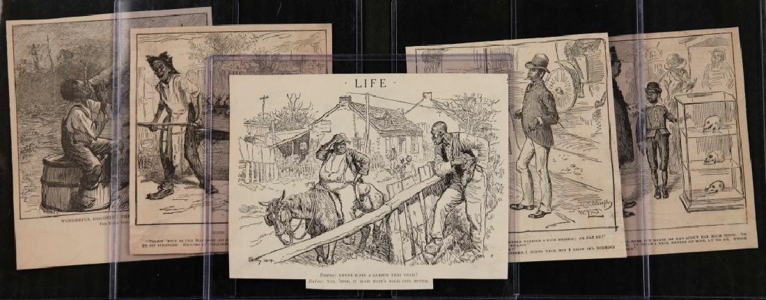 40 magazine cartoons: Black Americana, c. 1880s.