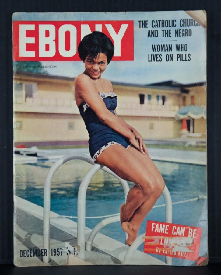 4 Magazines with Eartha Kitt on cover, 1953-1959.