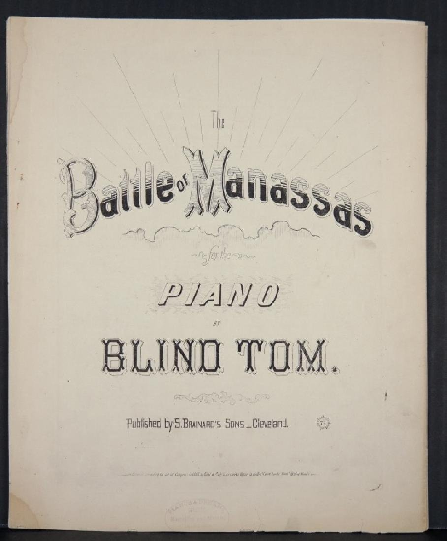 The Battle Of Manassas. Sheet Music, 1866.