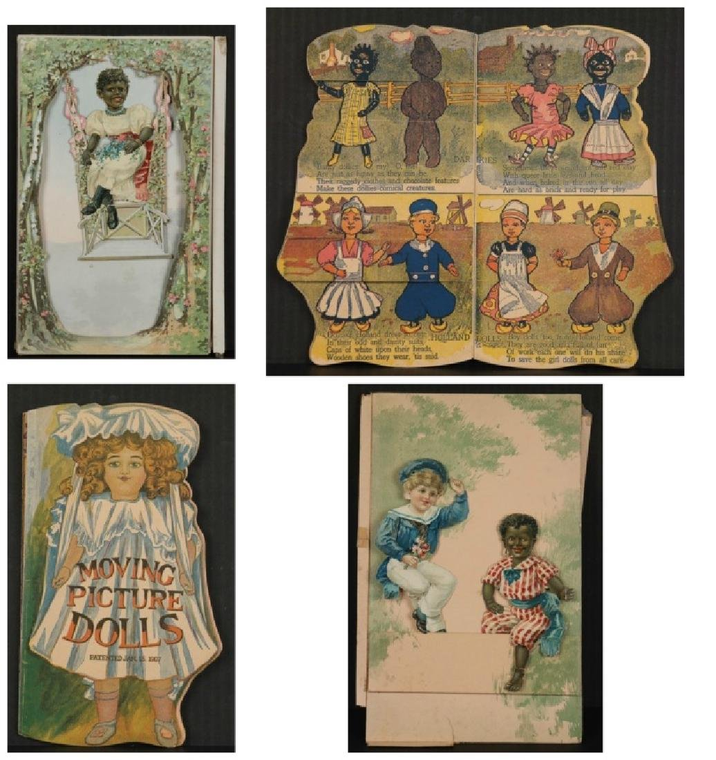Paper ephemera incl Moving Picture Dolls, 1907.